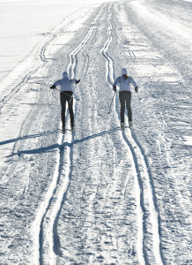 Pair of cross-country skiers