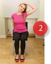 Ćwiczenia szyi na krześle, proste ćwiczenia kręgosłupa w pracy i w domu.