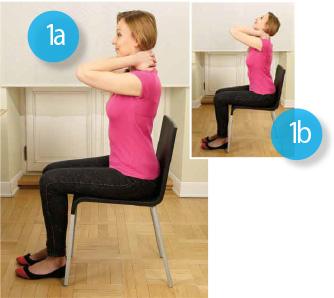 Ćwiczenia na kręgosłup szyjny na krześle, gimnastyka kręgosłupa w pracy.