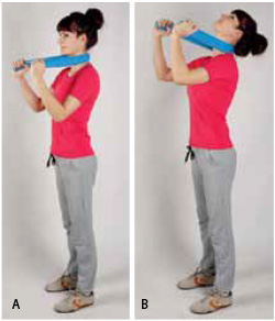 Ćwiczenia z gumą na kręgosłup i ćwiczenia na kręgosłup szyjny.