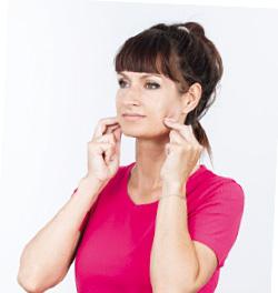 Automasaż twarzy, masaż żuchwy - zagryzanie zębów i zaciskanie zębów.